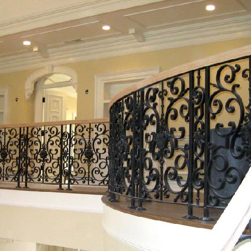iron full rails staircase
